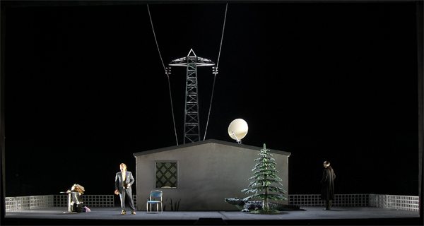 Klaus Grünberg, set and light design for Rigoletto, Opernhaus Graz, 2007